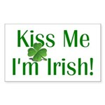 Kiss Me I'm Irish Sticker (Rectangle 10 pk)