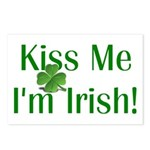 Kiss Me I'm Irish Postcards (Package of 8)