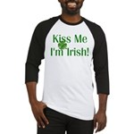 Kiss Me I'm Irish Baseball Jersey