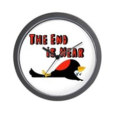 The End Is Near Birds Falling Wall Clock