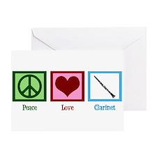 Peace Love Clarinet Greeting Card