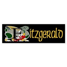 Fitzgerald Celtic Dragon Bumper Bumper Sticker