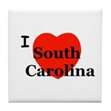I Love South Carolina Tile Coaster