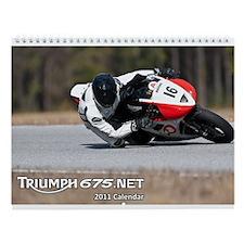 2011 Triumph675.Net track Wall Calendar