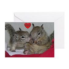 Kissing Squirrel Valentine's Card