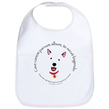 Beware The Little White Dog Bib