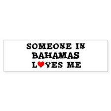 Someone in Bahamas Bumper Car Sticker