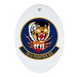 79th Fighter Squadron Oval Ornament