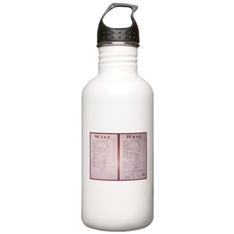 Amsterdam Cafe Menu Stainless Water Bottle 1.0L