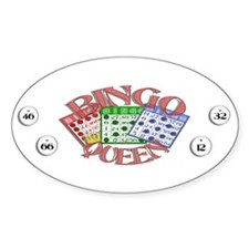 Bingo Queen Oval Decal