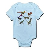Six Pretty Hummingbirds Onesie