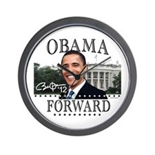 Obama Forward 2012 Wall Clock