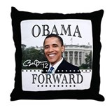 Obama Forward 2012 Throw Pillow