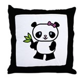 Pretty Panda Throw Pillow