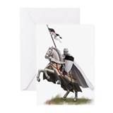 Templar on rearing horse Greeting Cards (Pk of 20)