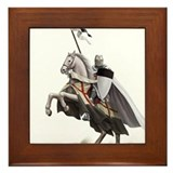 Templar on rearing horse Framed Tile