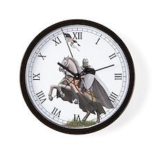 Templar on rearing horse Wall Clock