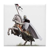 Templar on rearing horse Tile Coaster