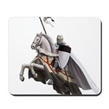 Templar on rearing horse Mousepad