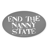 Nanny State Oval Decal