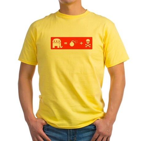 Republican = Death + Destruction Yellow T-Shirt
