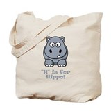 H is for Hippo! Tote Bag