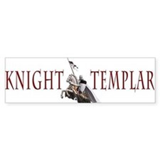 Templar on rearing horse Bumper Sticker