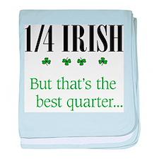 1/4 Irish baby blanket
