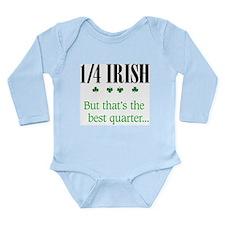 1/4 Irish Long Sleeve Infant Bodysuit