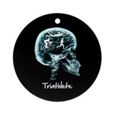 x-ray woman triathlete Ornament (Round)