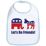 Let's Be Friends! Bib