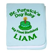 Customizable St. Pat's Baby Birthday baby blanket