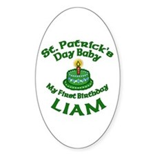 Customizable St. Pat's Baby Birthday Decal