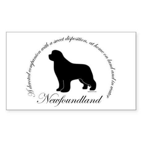 Devoted Black Newf Sticker (Rectangle)