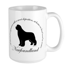 Devoted Black Newf Mug