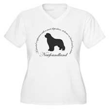 Devoted Gray Newf T-Shirt
