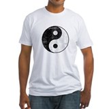 Distressed Yin Yang Symbol Shirt