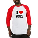 I Love African Girls Baseball Jersey