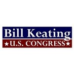 Re-Elect Bill Keating bumper sticker