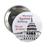 Montana Against Rehberg campaign button