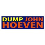 Dump John Hoeven bumper sticker