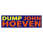 Dump John Hoeven bumper sticker