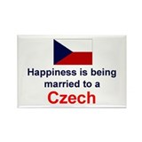 Happily Married To Czech Rectangle Magnet