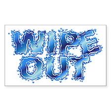 Wipeout-Splash Sticker (Rectangle)