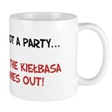 It's Not A Party Until Kielbasa Comes Out Small Mug