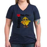 This Chick Loves Fishing Shirt