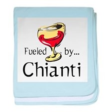 Fueled by Chianti baby blanket