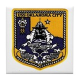 USS Oklahoma City SSN 723 Tile Coaster