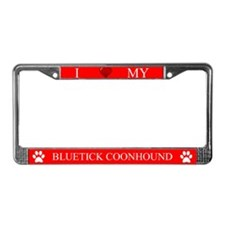 Red I Love My Bluetick Coonhound Frame