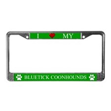 Green I Love My Bluetick Coonhounds Frame